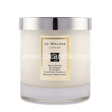 wax wick and flame perfume grade fragrance scented soy wax candle