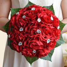 Artificial Silk Rose Flowers Fake Rose Bunch Roses for Wedding Home Party DIY Decoration