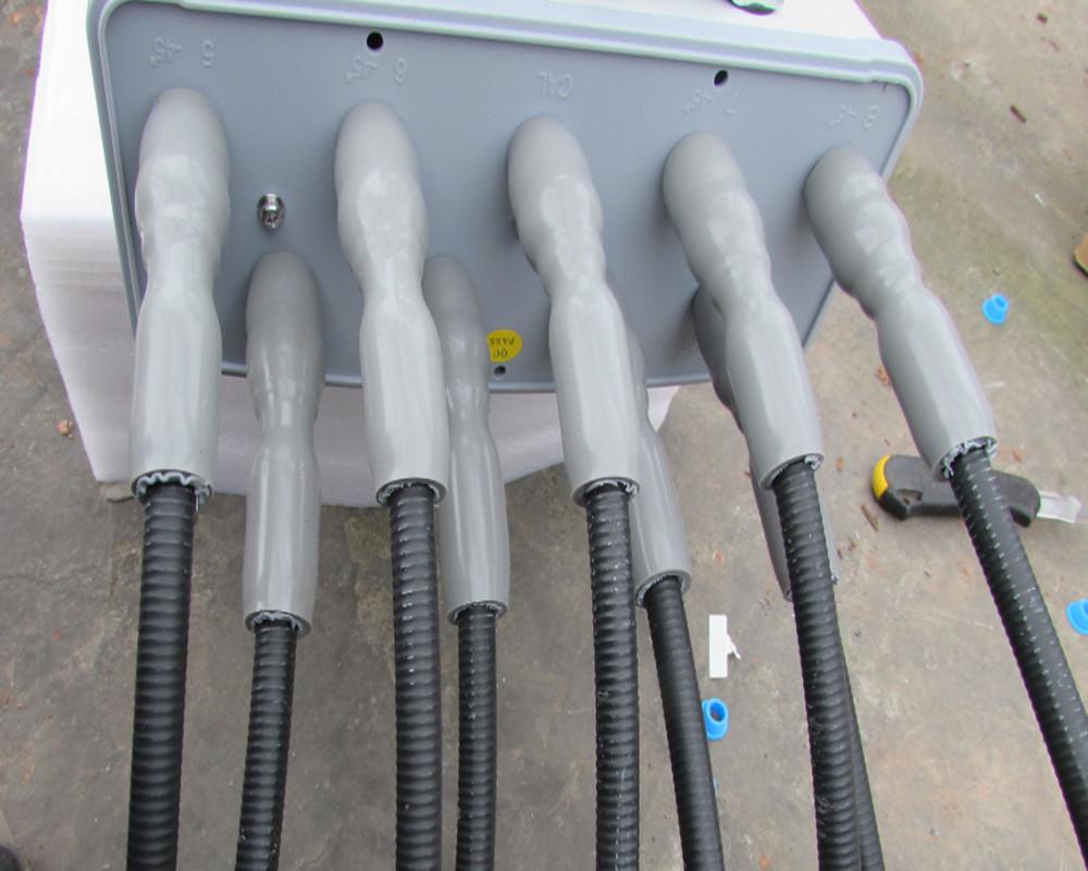 Cold shrink tubes installation