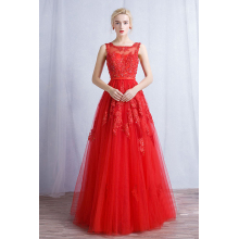 A-Line/Princess Tulle Floor-Length Casual Wedding Guest Dresses