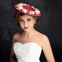 Fascinator Hair Clip Cocktail Headwear Flower Bridal Headpieces