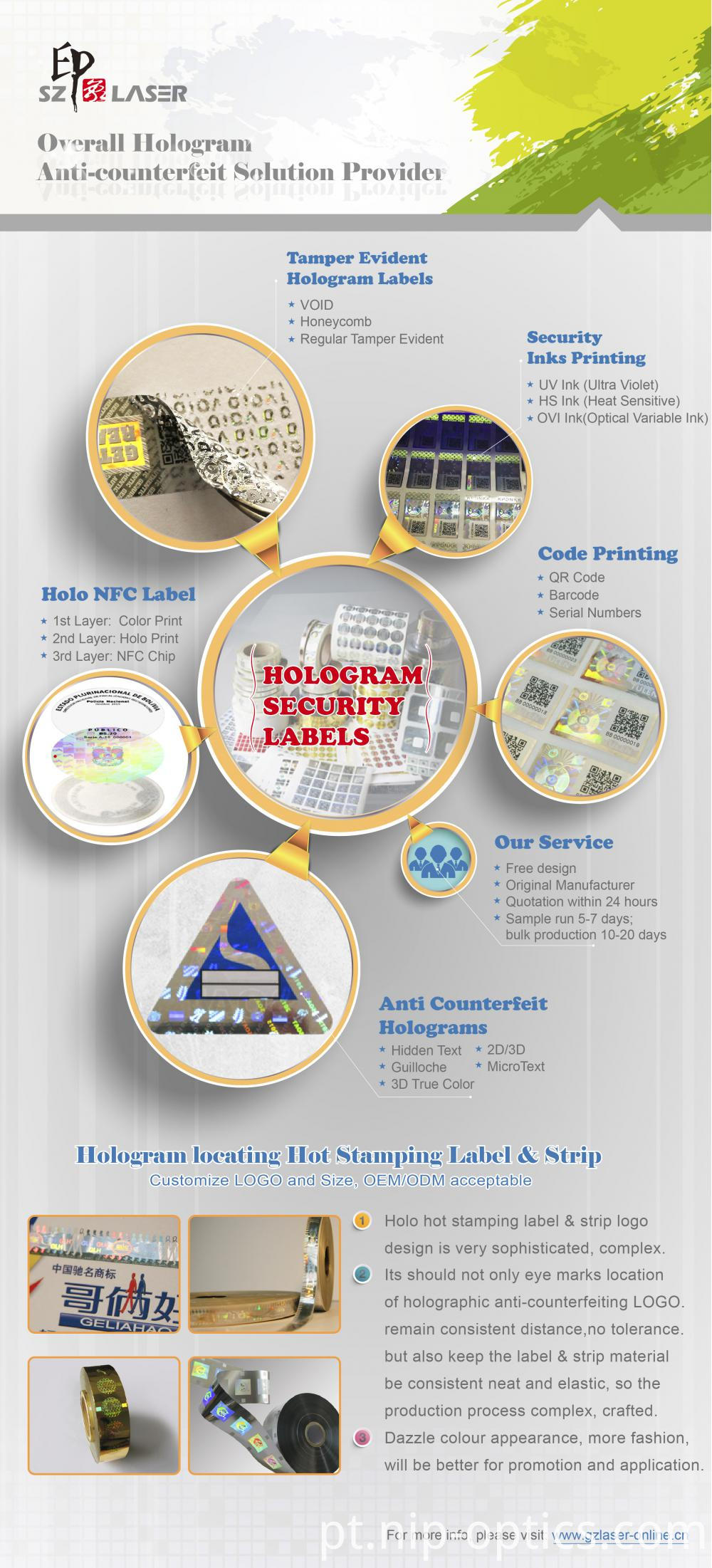 hologram seal sticker