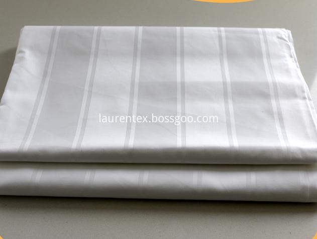 Hotel White Stripe Fabric