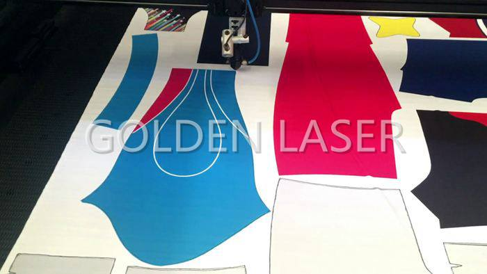 Fly Scanning Printed Fabric Laser Cutting