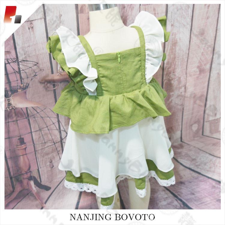 green chiffon dress04