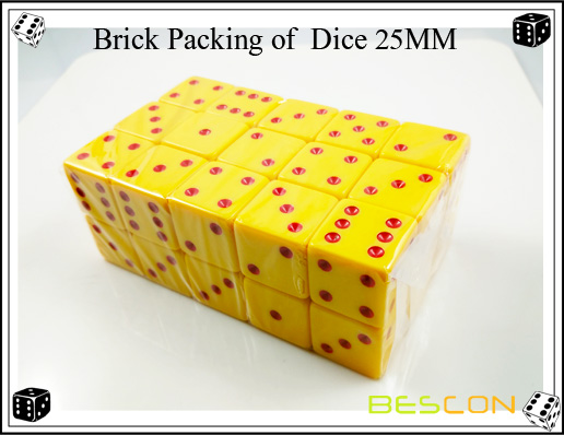 Brick Packing of  Dice 25MM