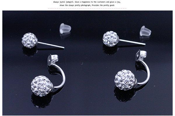 Shamballa Stud Earrings for Women