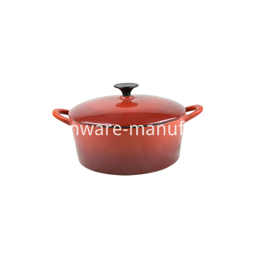 5 litre enamel coated cast iron casserole dish