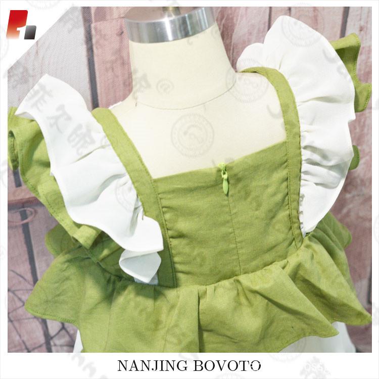 green chiffon dress05