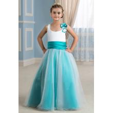 A-Line/Princess Tulle Floor Length Flower Dresses for Kids