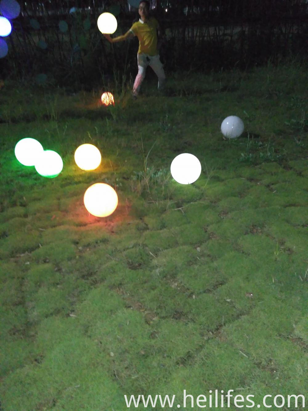 solar recharge garden led ball light