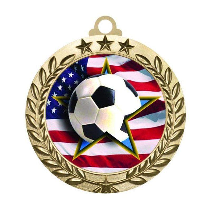 Engraved Soccer Medals
