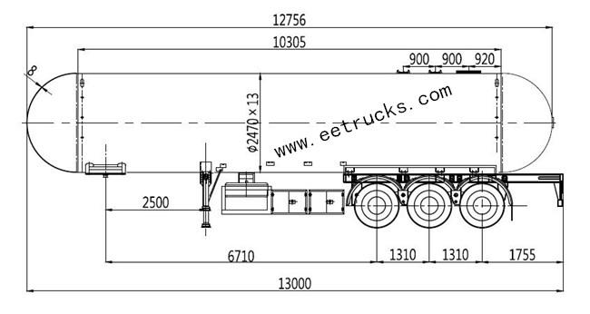 LPG Trailer Transport Tanks