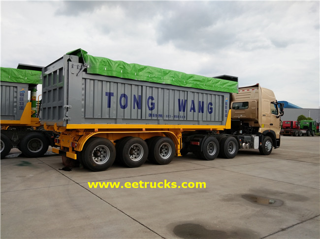 Tri-axle End Dump Trailers
