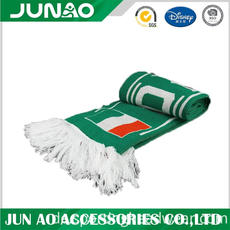 fans scarf with fringe
