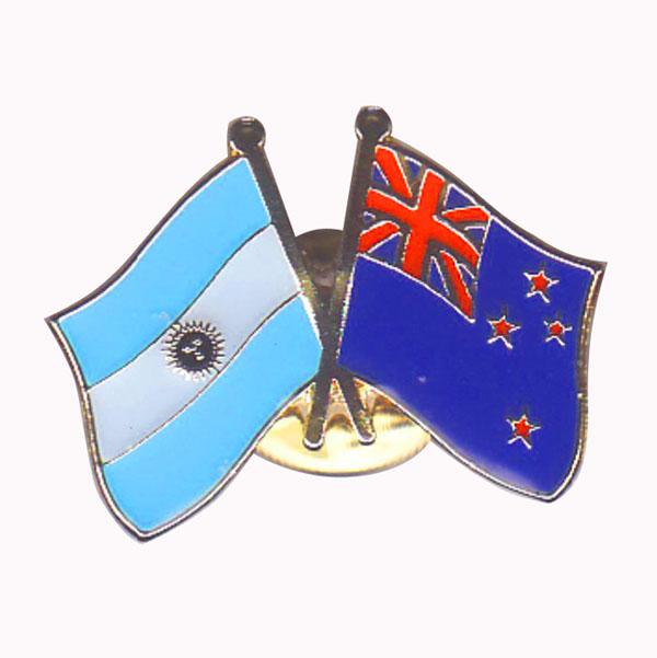 Argentina & New Zealand Flag Pin