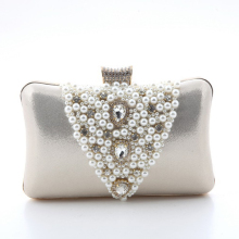 Womens Hardcase Glitter Cut-out Allover Evening Bag