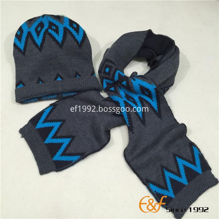 acrylic boy's hat scarf set