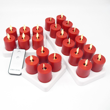 moving wick rechargeable led candle