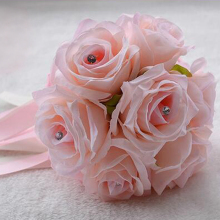 Foam Roses Artificial Flower Wedding Bride Bouquet Party