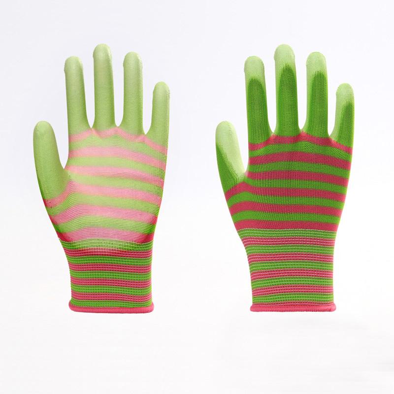 Polyester PU Work Labor Gloves