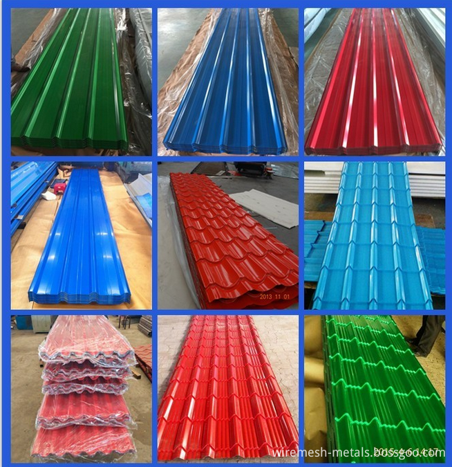 color corrugated steel sheet