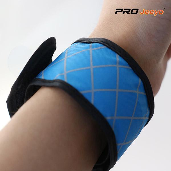 LED Light Nigh Vision Oxford Fabric Blue Plaid ArmbandWB-GW005