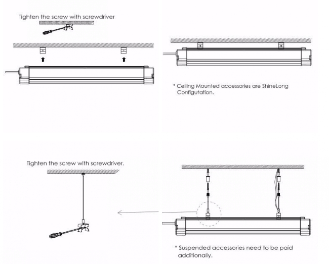 100lmw 60W LED Tri-Proof Light IP65