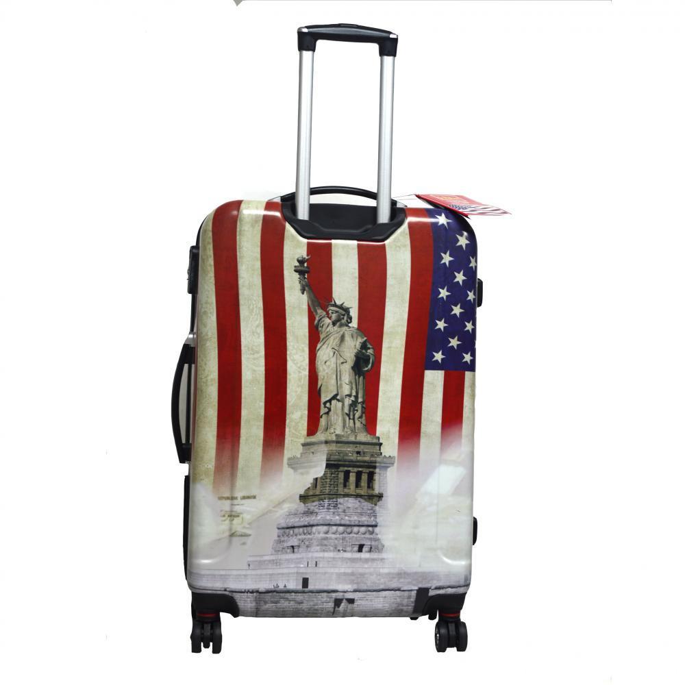 American flag printing luggage