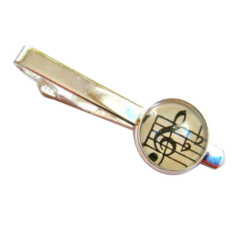 Men S Vintage Music Tie Clip