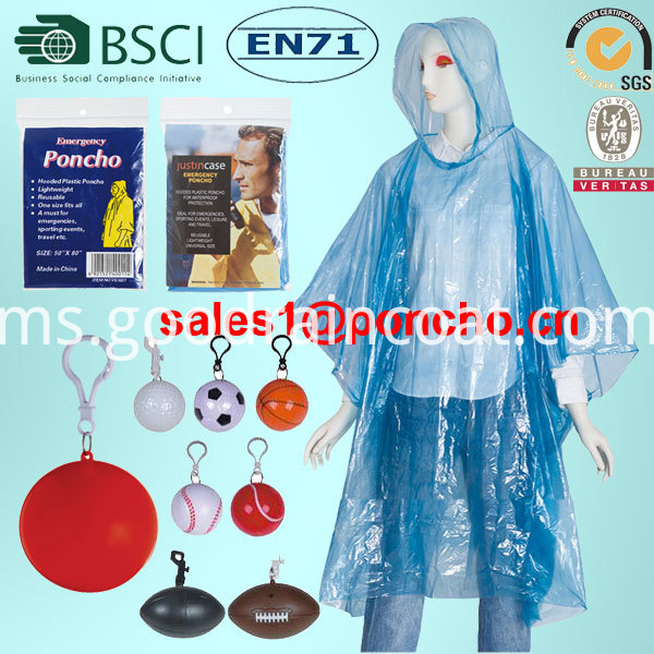 pe raincoat from factory