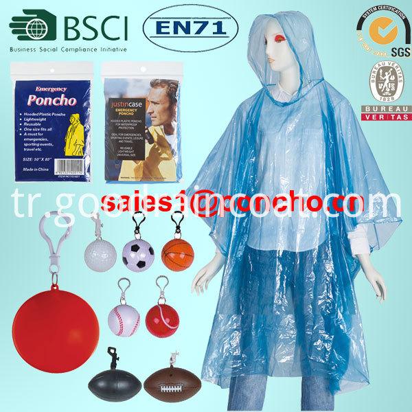 pe raincoat from factory