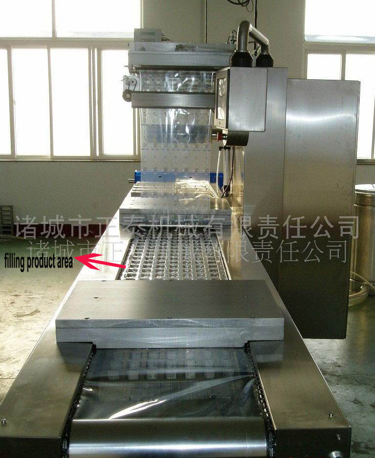 automatic Strech film vacuum packing machine for food commercial (2)