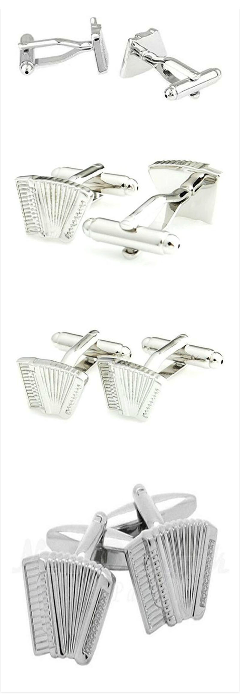Smart Men's Novelty Accordion Cufflink