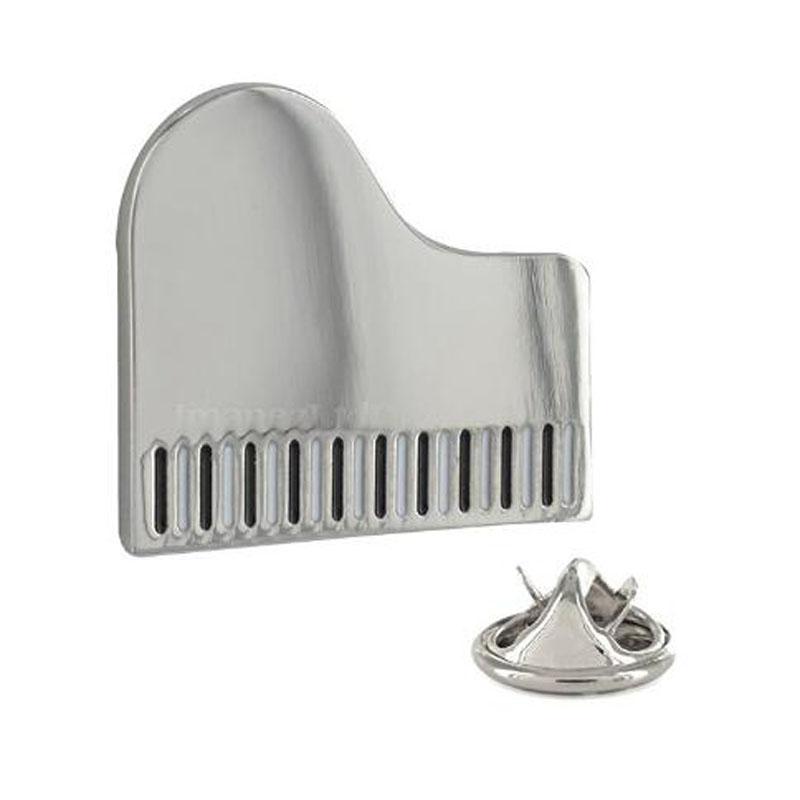 Flat Piano Metal Pin Badge