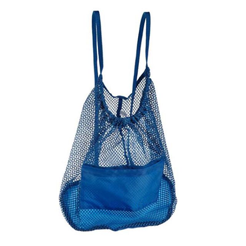 Light Blue Mesh Backpack
