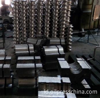 screw oil press components