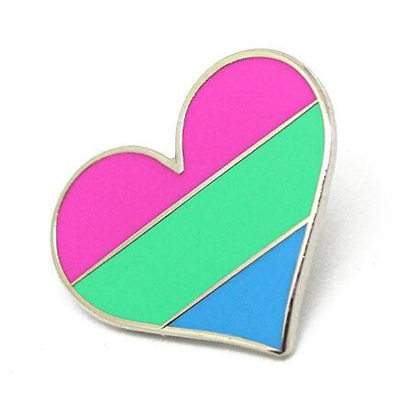 Heart Flag Lapel Pin
