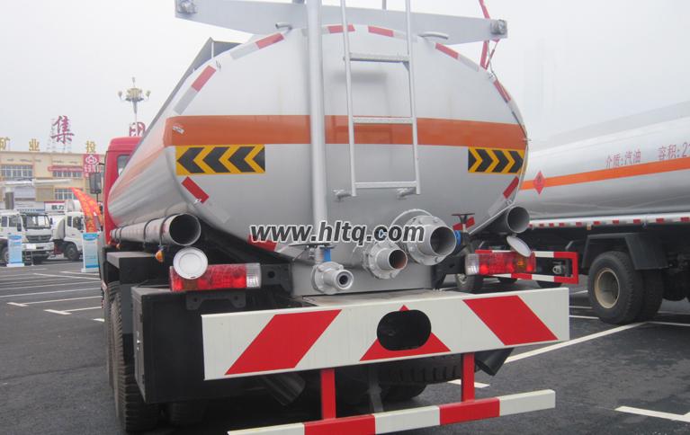 Back of Fuel Tanker Truck