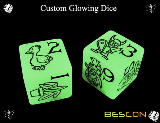 Custom Glowing Dice