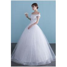 Ball Gown Tulle Floor Length Brand Name Wedding Dresses