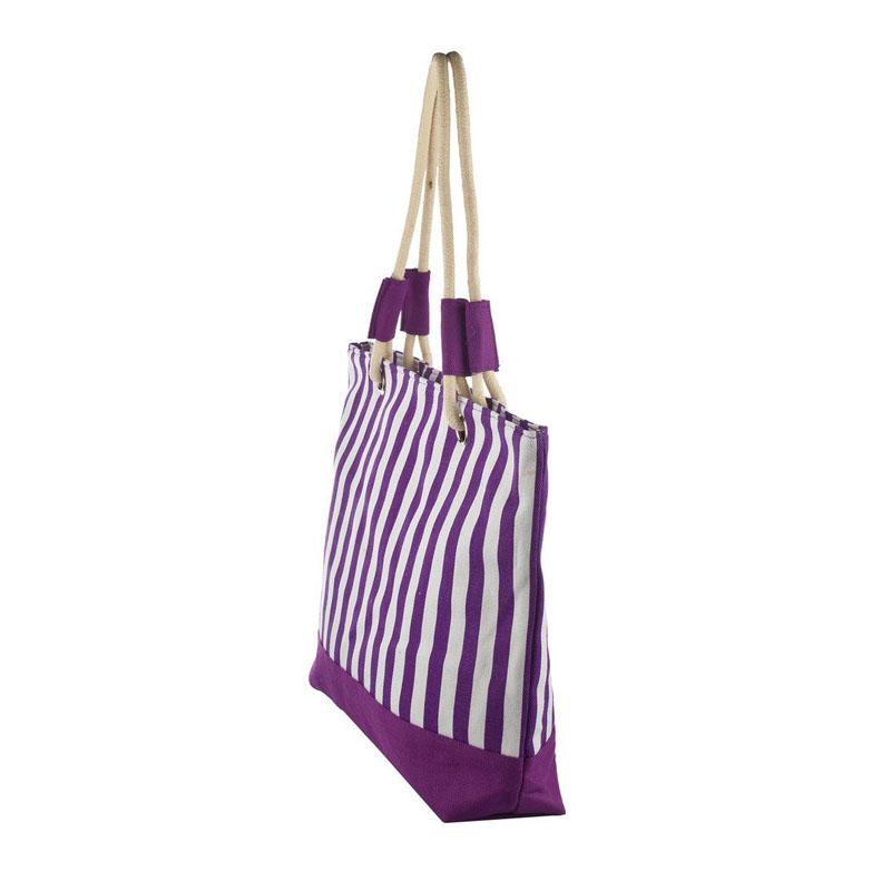 Beach Bag Purple Stripes