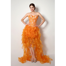 A-Line/Princess Organza Hi-Lo High Low Prom Dress