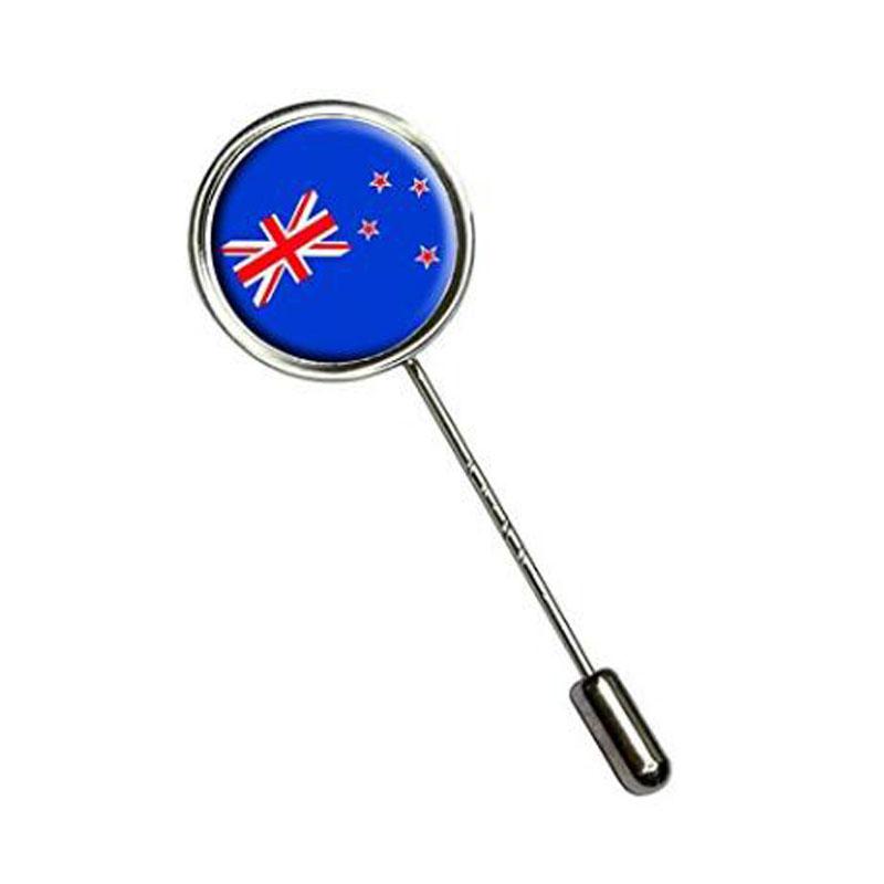 New Zealand Flag Stick Hat Brooch Pin