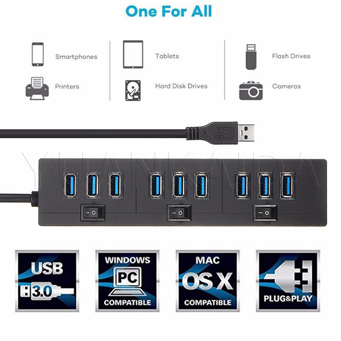 10 port usb 3.0 hub dirve