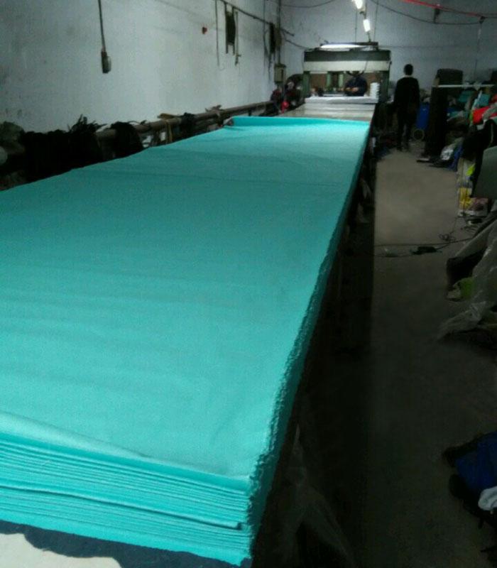 CUTTING cap fabric