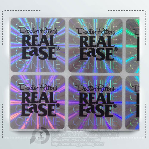 Custom Clear Printing Laser Foil Label