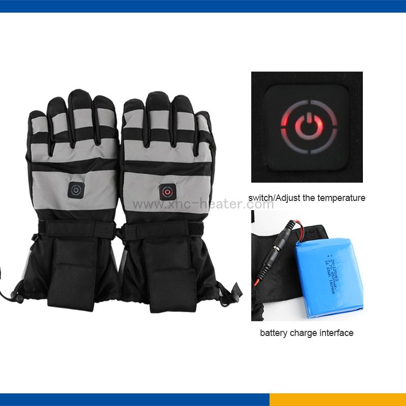 3.7v 4500mah heated gloves