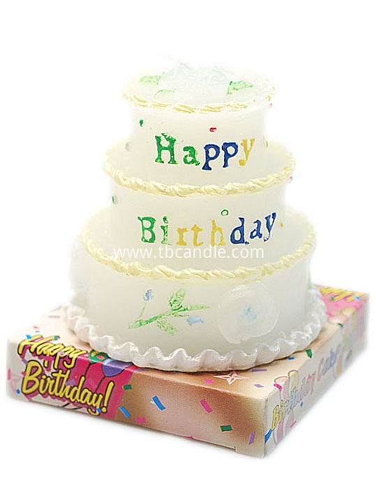 multi-layer birthday cake candle