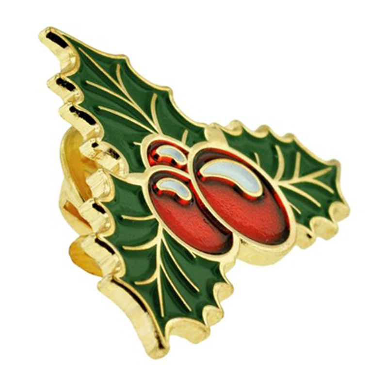 Holly Berry Pin Side